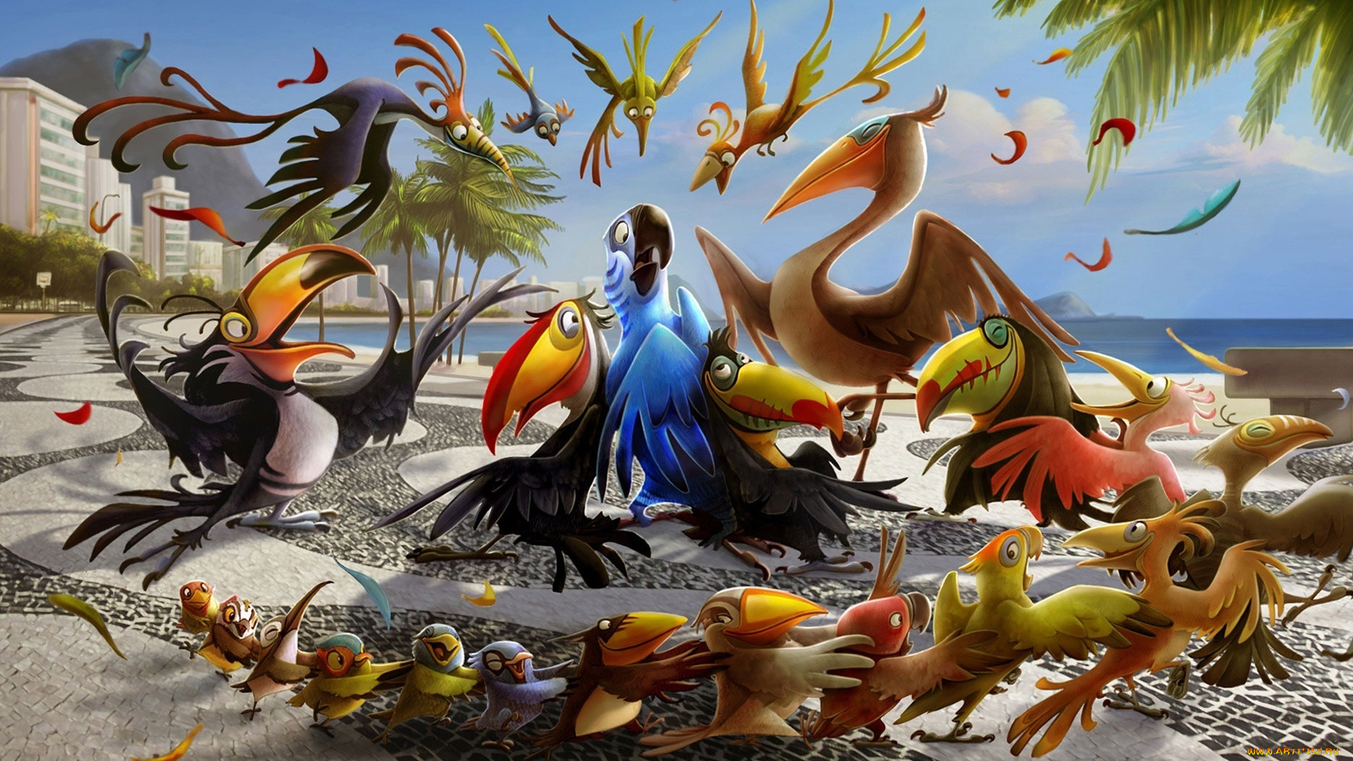 Птицы мультики картинки